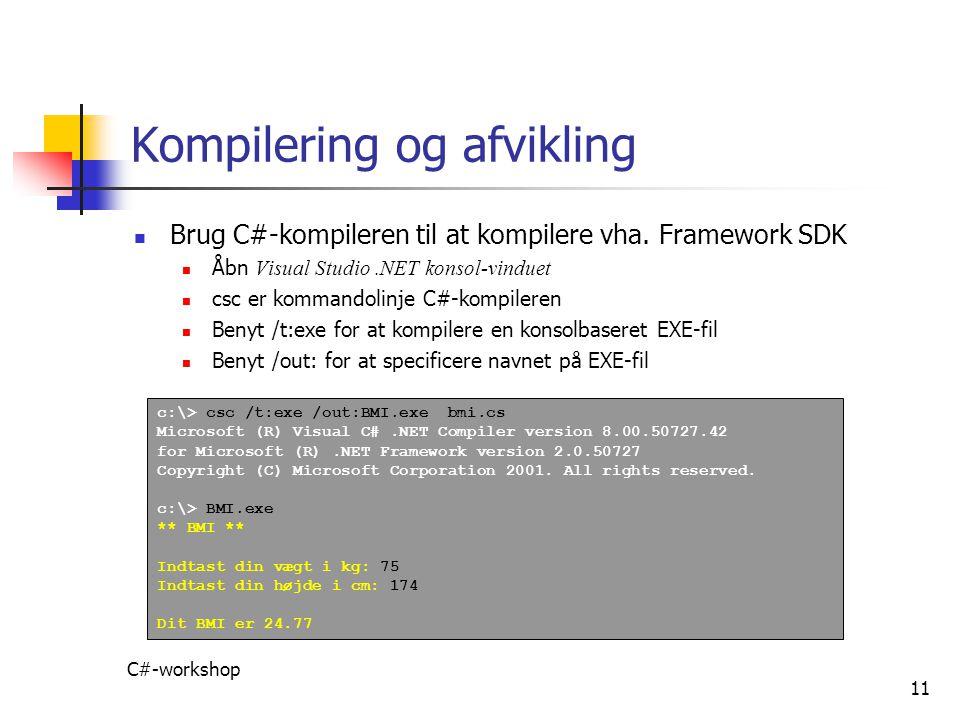 Kompilering og afvikling