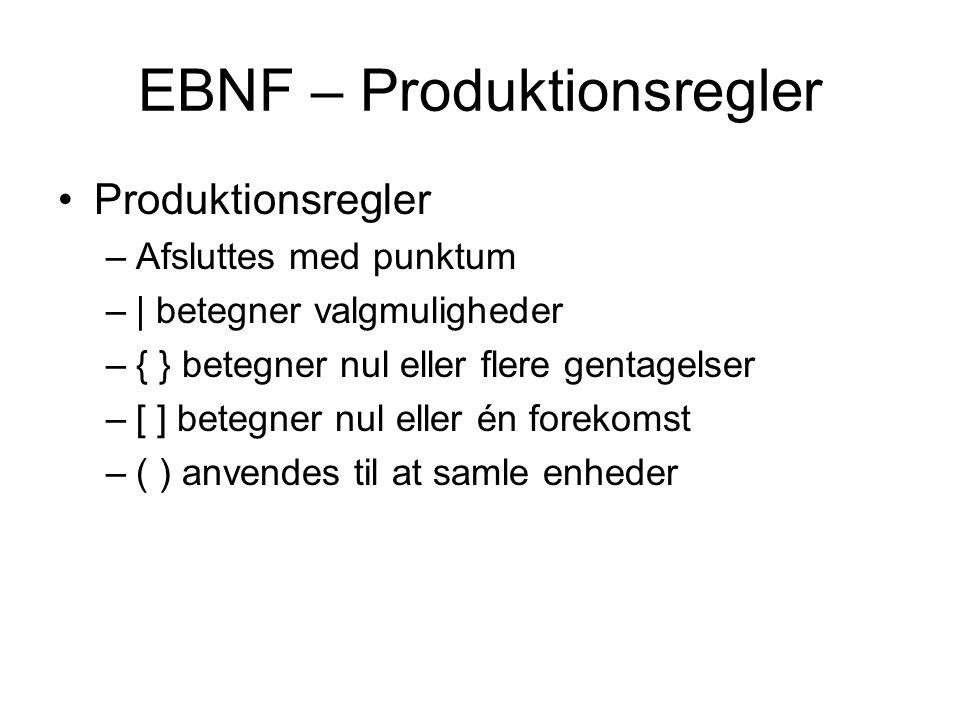 EBNF – Produktionsregler