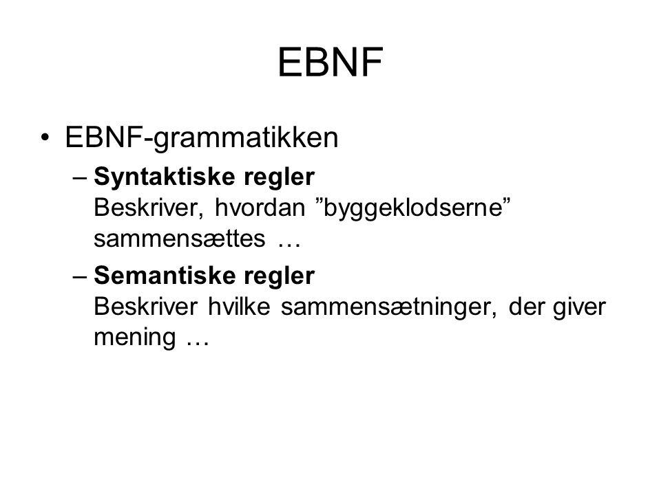 EBNF EBNF-grammatikken