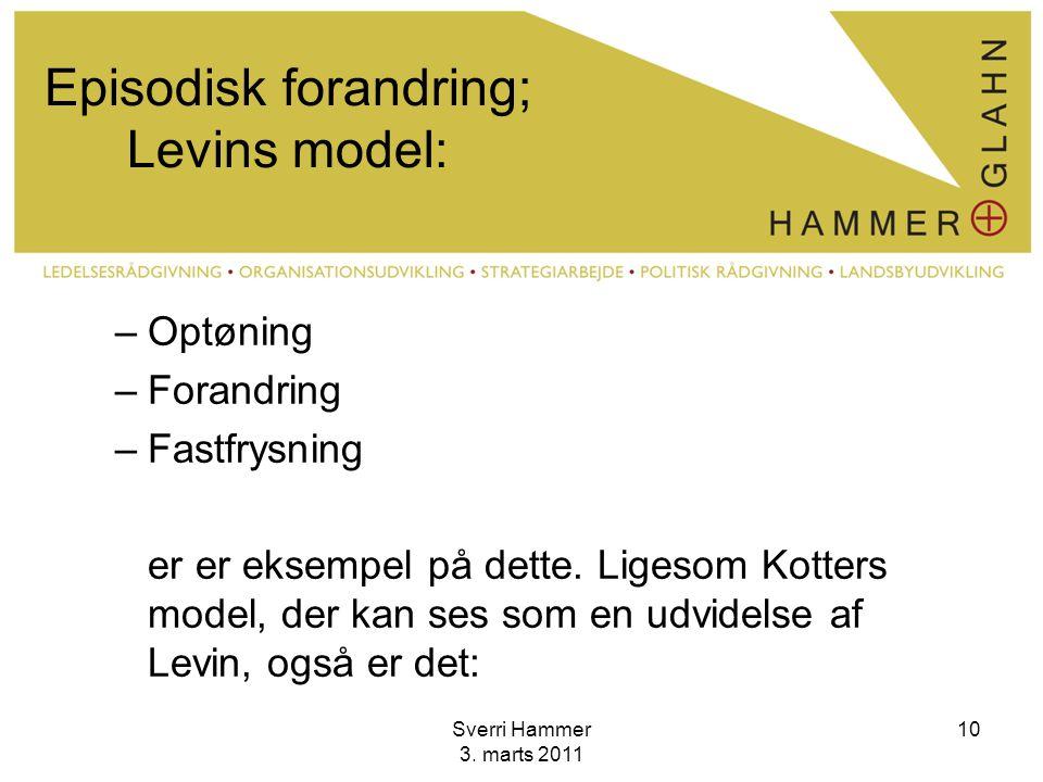 Episodisk forandring; Levins model: