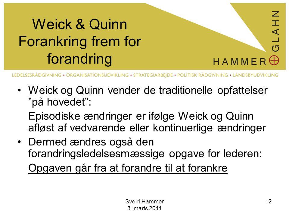 Weick & Quinn Forankring frem for forandring