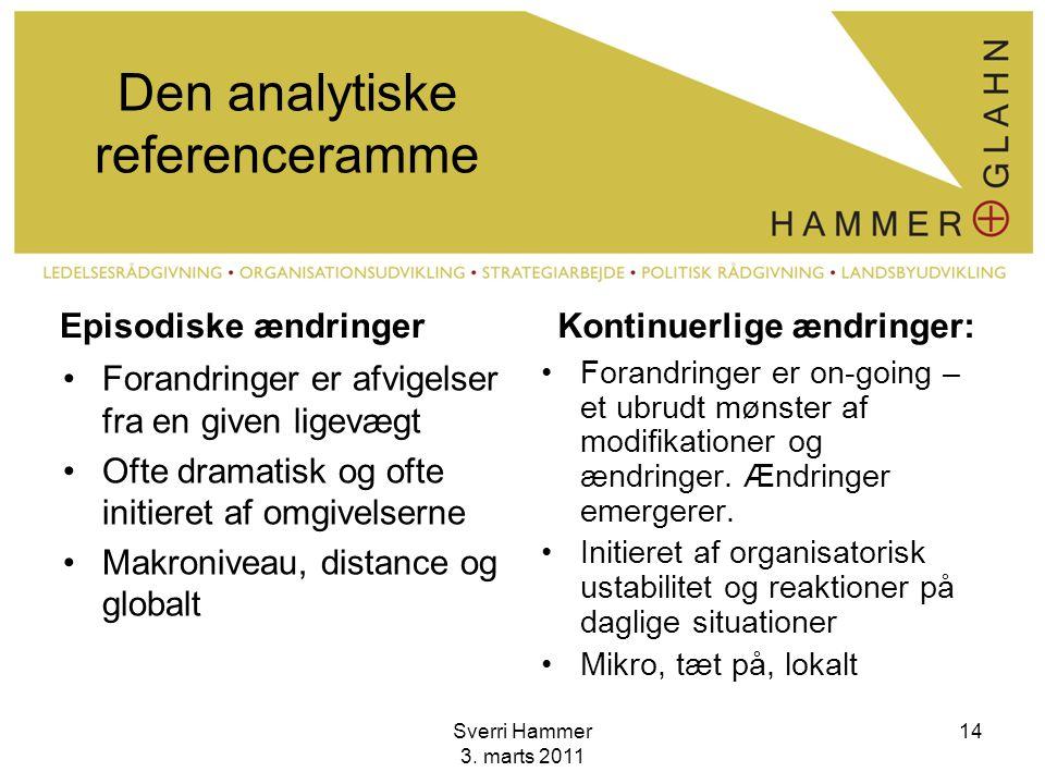 Den analytiske referenceramme