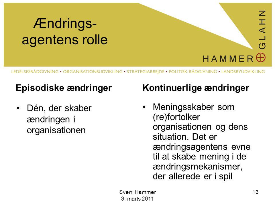 Ændrings-agentens rolle