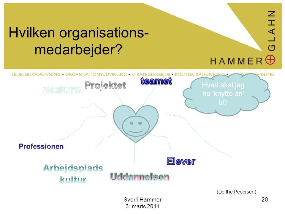 Hvilken organisations-medarbejder