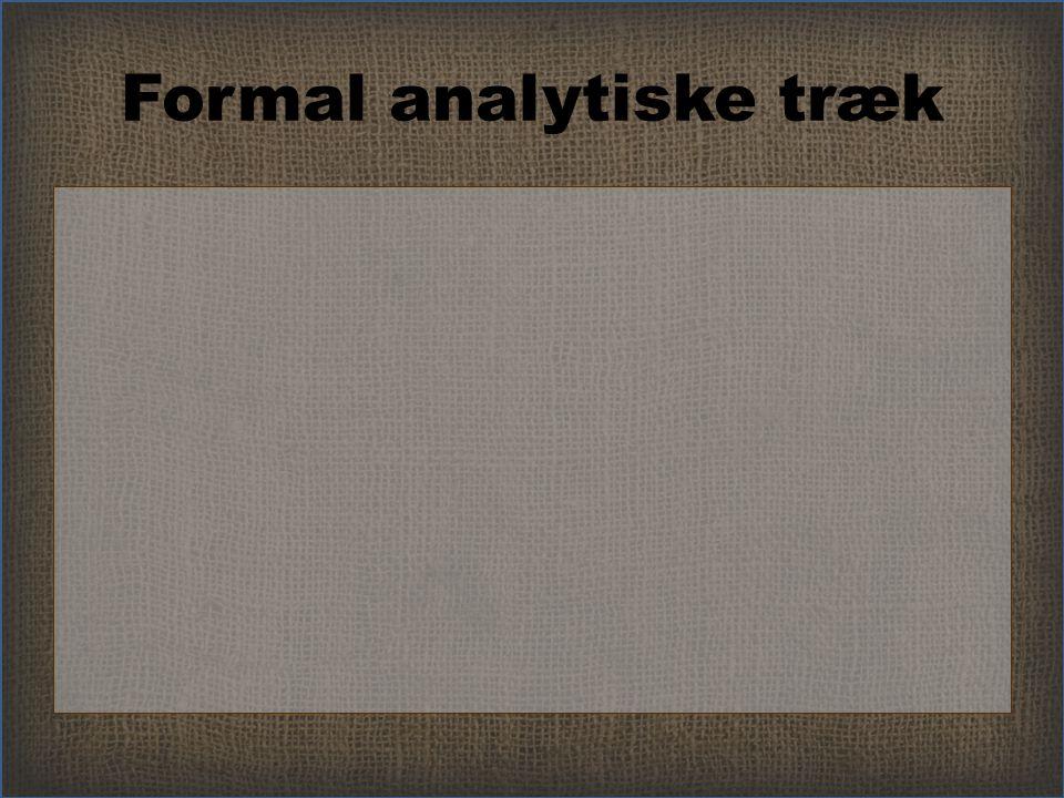 Formal analytiske træk