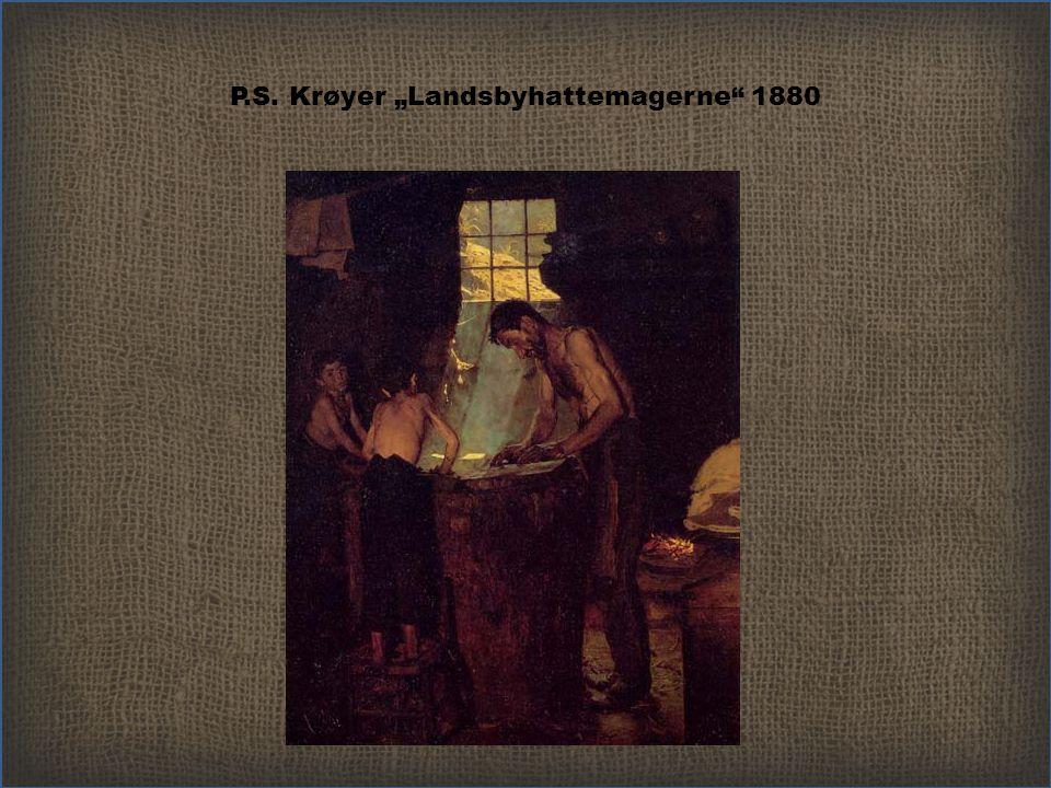 """P.S. Krøyer """"Landsbyhattemagerne 1880"""