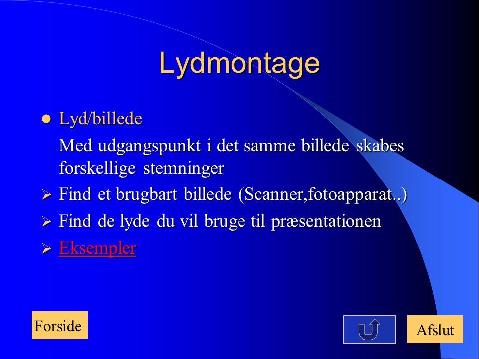 Lydmontage Lyd/billede