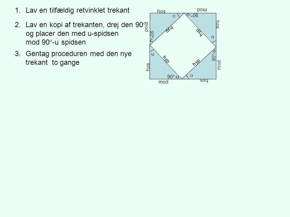 Lav en tilfældig retvinklet trekant