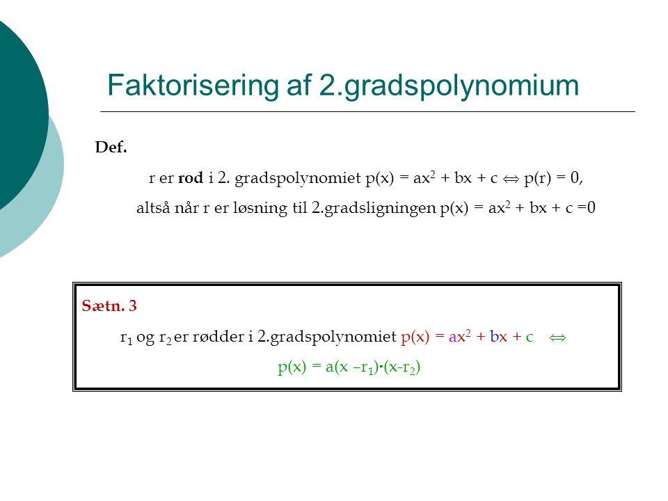 Faktorisering af 2.gradspolynomium
