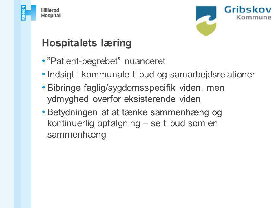 Hospitalets læring Patient-begrebet nuanceret