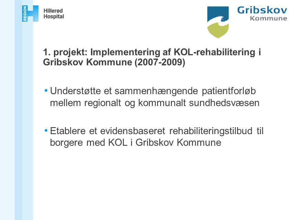 1. projekt: Implementering af KOL-rehabilitering i Gribskov Kommune (2007-2009)