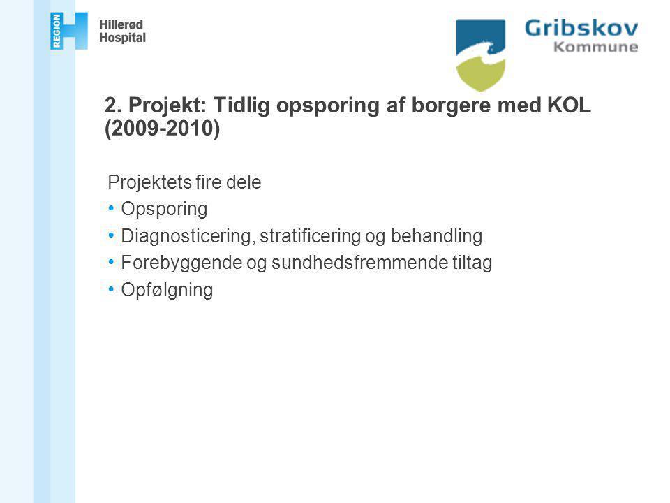 2. Projekt: Tidlig opsporing af borgere med KOL (2009-2010)