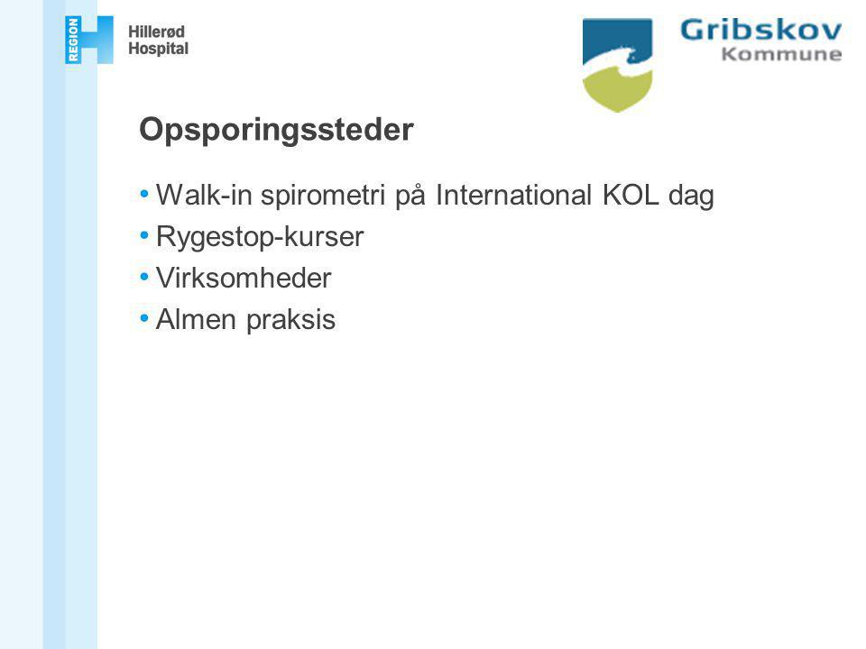Opsporingssteder Walk-in spirometri på International KOL dag