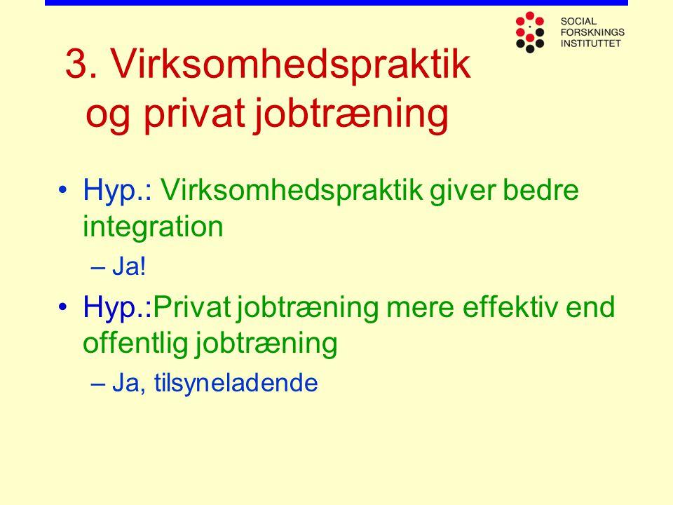 3. Virksomhedspraktik og privat jobtræning