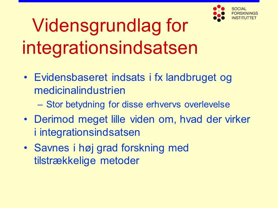 Vidensgrundlag for integrationsindsatsen