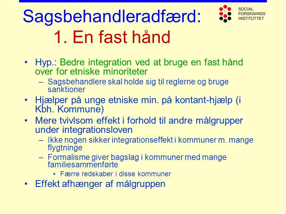 Sagsbehandleradfærd: 1. En fast hånd