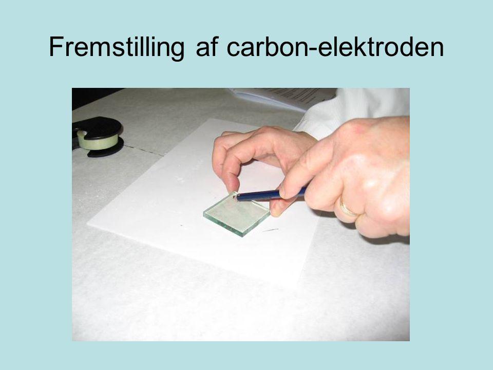Fremstilling af carbon-elektroden