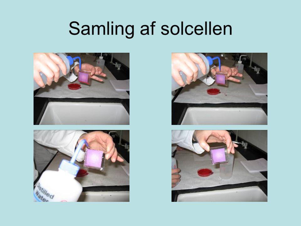 Samling af solcellen
