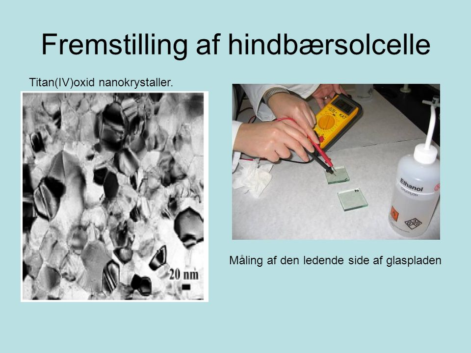 Fremstilling af hindbærsolcelle