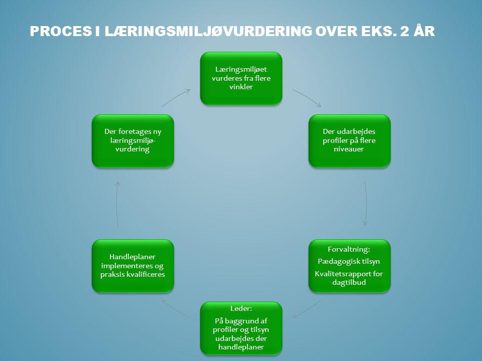 Proces i læringsmiljøvurdering over eks. 2 år
