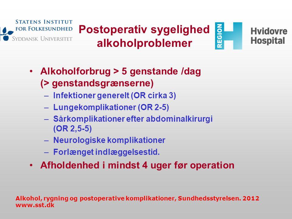 Postoperativ sygelighed alkoholproblemer