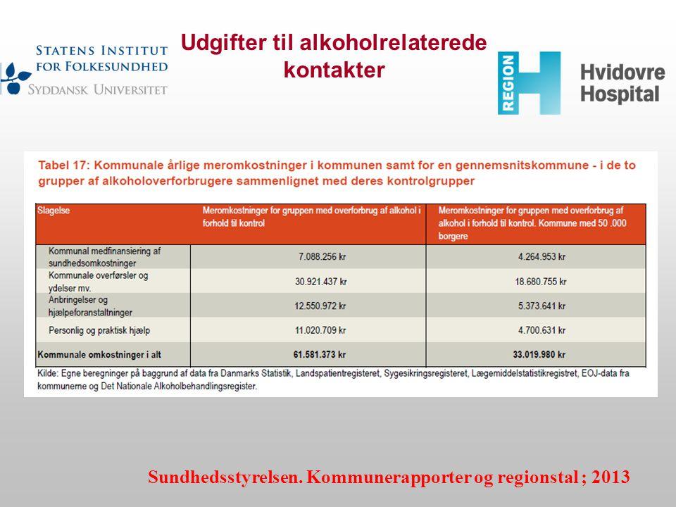 Udgifter til alkoholrelaterede kontakter