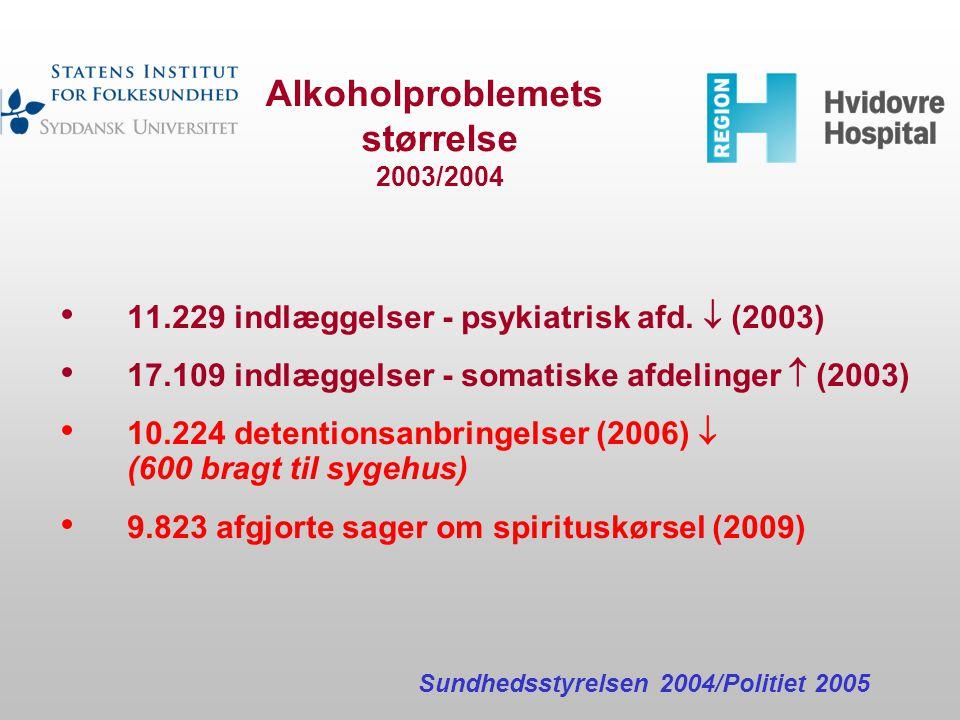 Alkoholproblemets størrelse 2003/2004