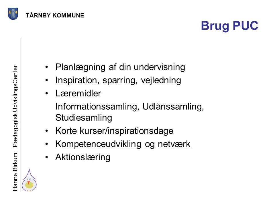 Brug PUC Planlægning af din undervisning