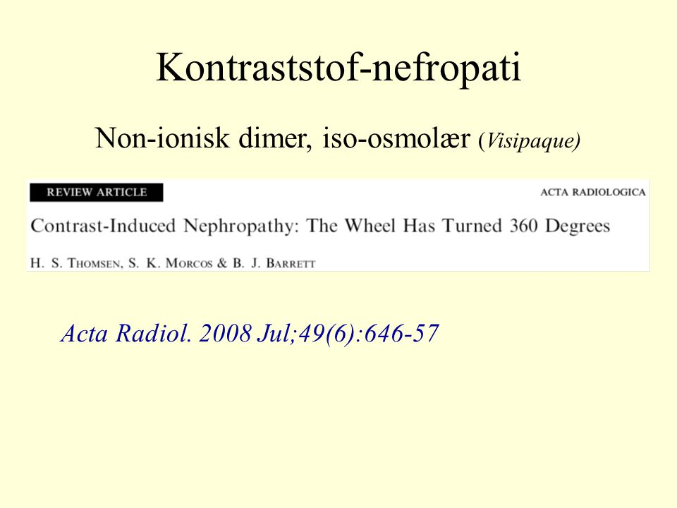 Kontraststof-nefropati