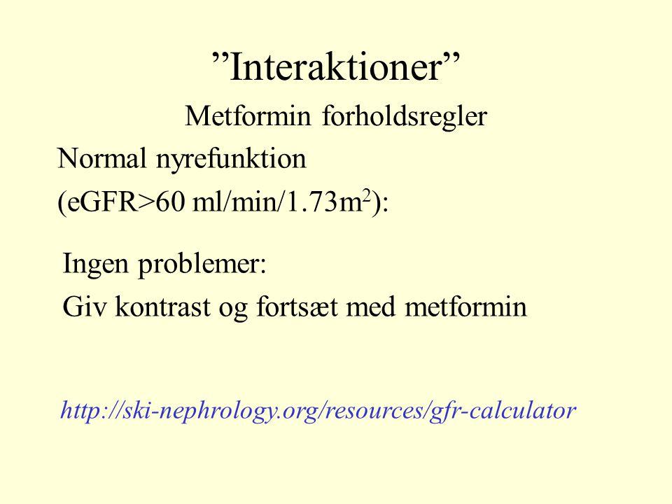Metformin forholdsregler