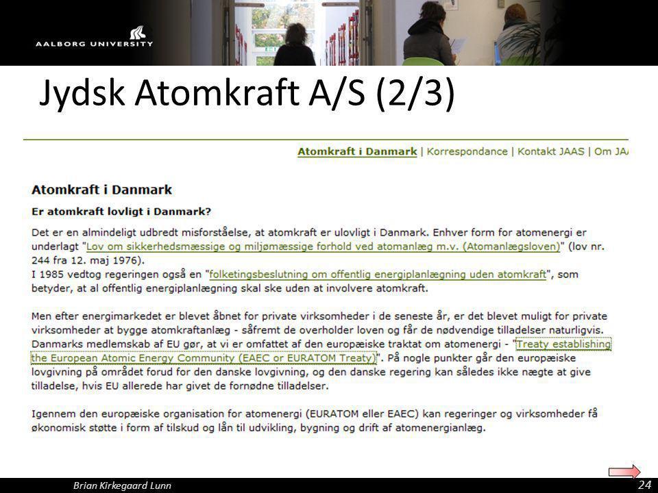 Jydsk Atomkraft A/S (2/3)