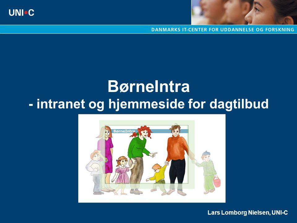 BørneIntra - intranet og hjemmeside for dagtilbud