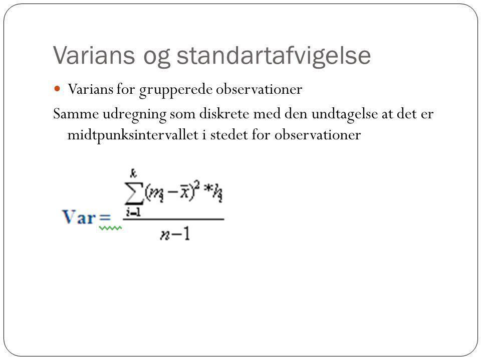 Varians og standartafvigelse