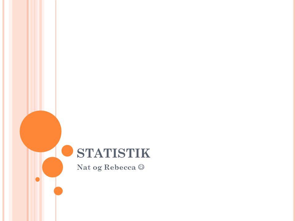 STATISTIK Nat og Rebecca 