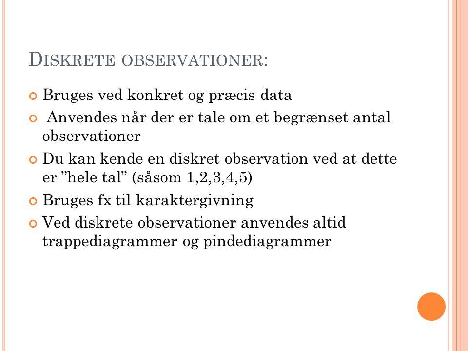 Diskrete observationer: