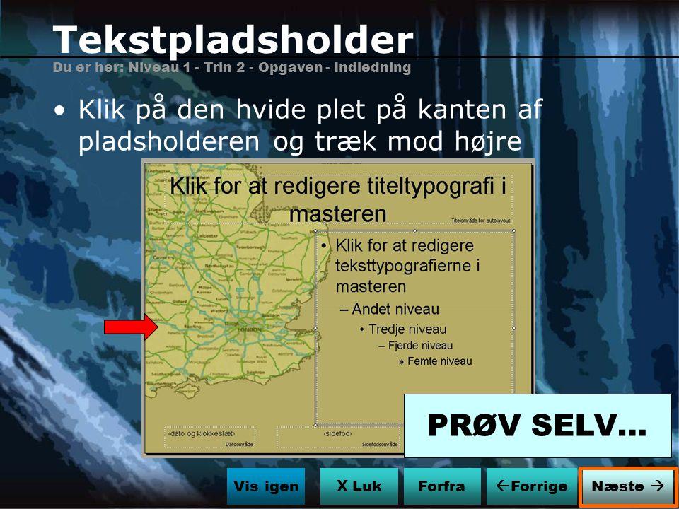 Tekstpladsholder PRØV SELV…