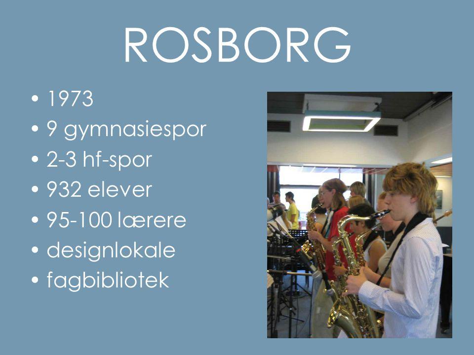 ROSBORG 1973 9 gymnasiespor 2-3 hf-spor 932 elever 95-100 lærere