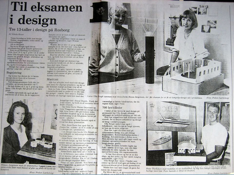 design 1990-1991. Min baggrund, designuddannelse, 1.
