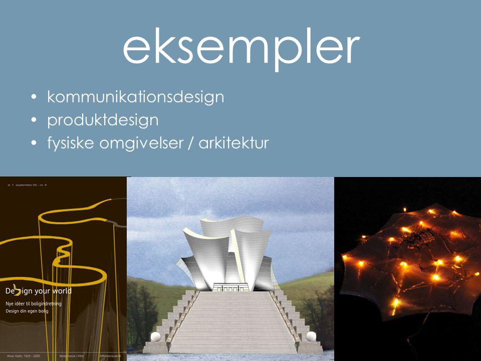 eksempler kommunikationsdesign produktdesign