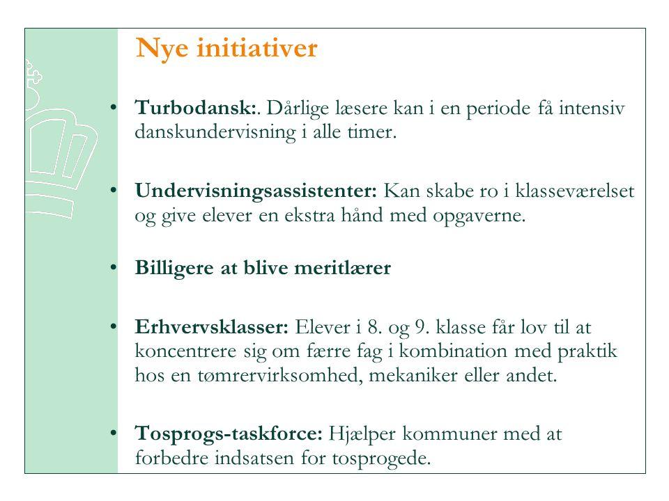Nye initiativer Turbodansk:. Dårlige læsere kan i en periode få intensiv danskundervisning i alle timer.