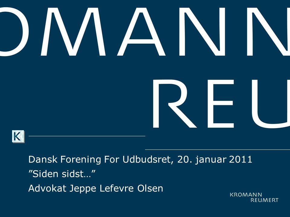 Dansk Forening For Udbudsret, 20