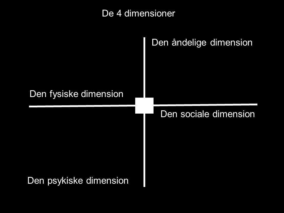 De 4 dimensioner Den åndelige dimension. Den fysiske dimension.