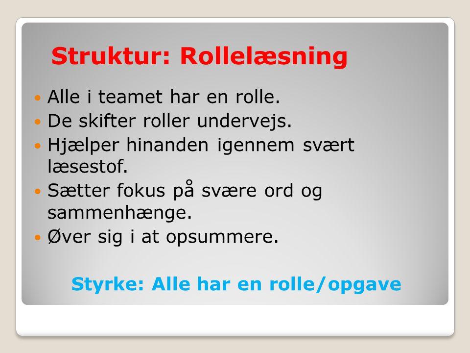 Struktur: Rollelæsning
