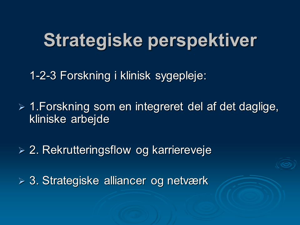 Strategiske perspektiver