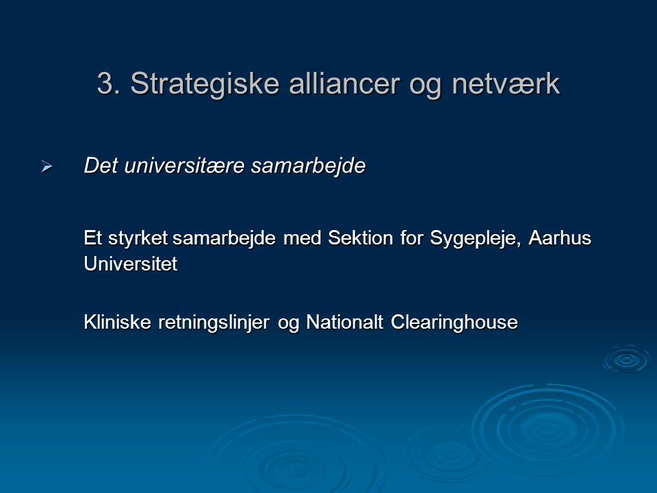 3. Strategiske alliancer og netværk