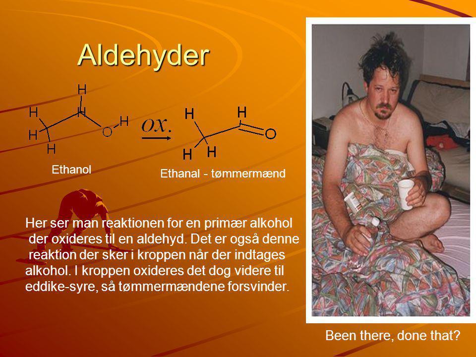 Aldehyder Her ser man reaktionen for en primær alkohol