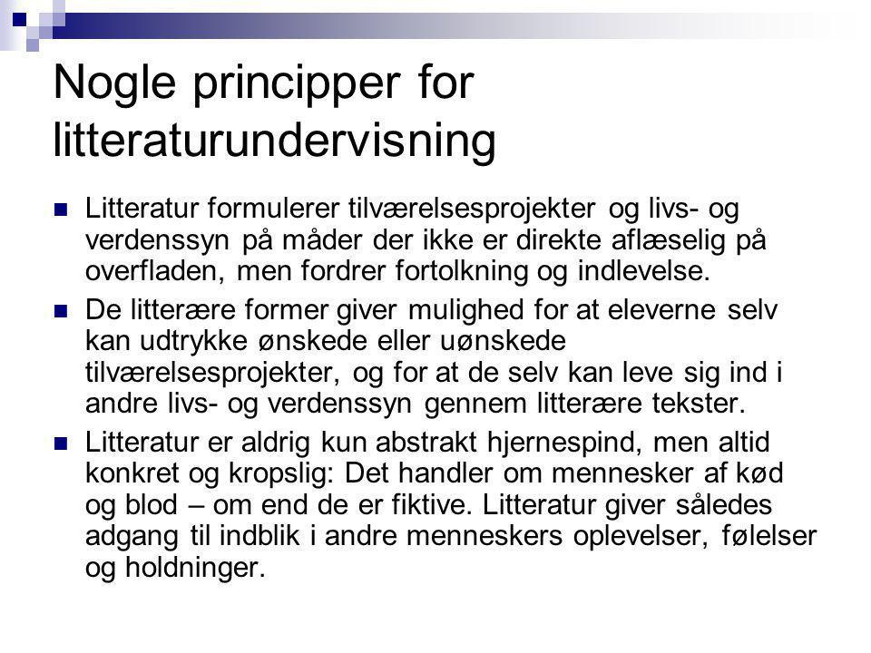 Nogle principper for litteraturundervisning