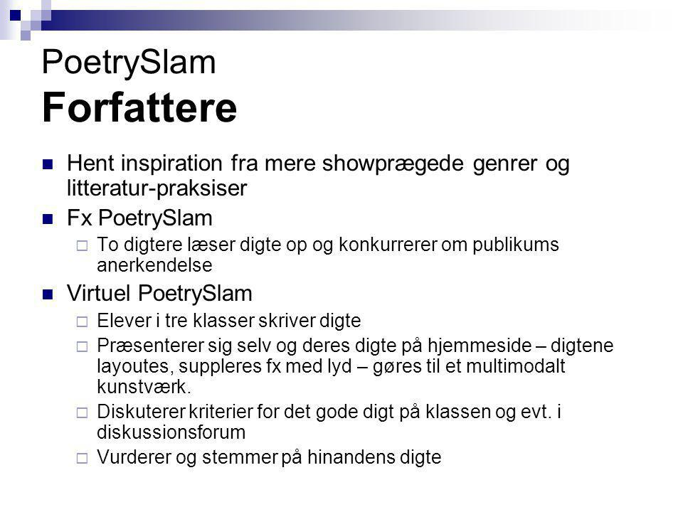 PoetrySlam Forfattere