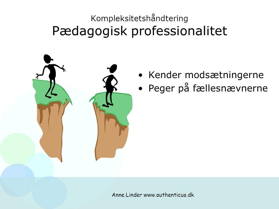Kompleksitetshåndtering Pædagogisk professionalitet