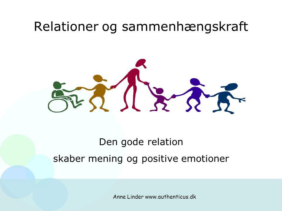 Relationer og sammenhængskraft